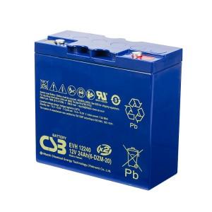 CSB EVH12240 12V 24Ah Blei-Akku / AGM Batterie Zyklenfest