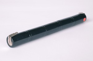 Akkupack Notlicht Notbeleuchtung 6V / 1,5Ah Stabform mit Faston Anschlüssen