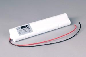 Ni-Cd Akkupack Notlicht / Notbeleuchtung 12V / 1800mAh (1,8Ah) L5x2 Stab mit Kabel