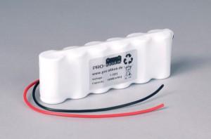 Ni-Cd Akkupack Notlicht Notbeleuchtung 7,2V / 1800mAh (1,8Ah) F6x1 Reihe mit Kabel