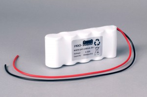 Ni-Cd Akkupack Notlicht Notbeleuchtung 6,0V / 2000mAh (2,0Ah) F5x1 Reihe mit Kabel