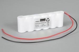 Ni-Cd Akkupack Notlicht Notbeleuchtung 7,2V / 1700mAh (1,7Ah) F6x1 Reihe mit Kabel