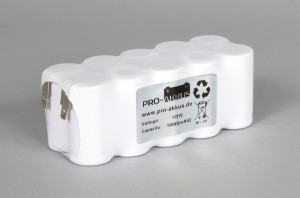 Ni-Cd Akkupack Notlicht Notbeleuchtung 12V / 1500mAh (1,5Ah) F5x2 Reihe, Faston Anschlüsse