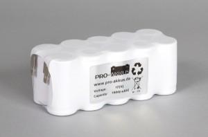 Ni-Cd Akkupack Notlicht Notbeleuchtung 12V / 1800mAh (1,8Ah) F5x2 Reihe, Faston Anschlüsse