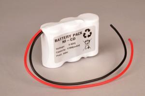 Akkupack Notlicht Notbeleuchtung 3,6V / 1700mAh (1,7Ah) Reihe mit Kabel
