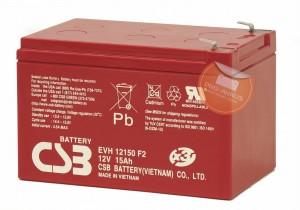 CSB EVH12150 12V 15Ah Blei-Akku / AGM Batterie Zyklenfest
