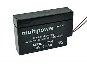 Multipower MP0,8-12H 12V 0,8Ah Blei-Akku / AGM Batterie