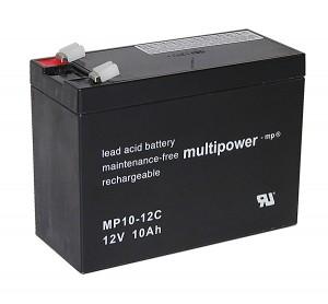 Multipower MP10-12C 12V 10Ah Blei-Akku / AGM Batterie Zyklenfest