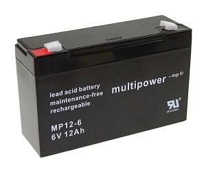 Multipower MP12-6 6V 12Ah Blei-Akku / AGM Batterie