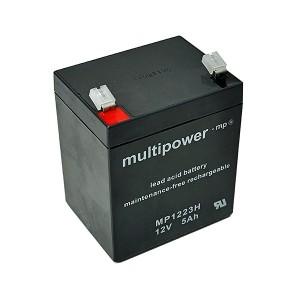 Multipower MP1223H 12V 5Ah Blei-Akku / AGM Batterie Hochstrom