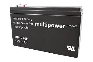 Multipower MP1224H 12V 6Ah Blei-Akku / AGM Batterie Hochstrom