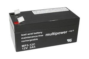 Multipower MP3-12C 12V 3Ah Blei-Akku / AGM Batterie Zyklenfest