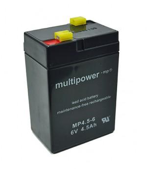 Multipower MP4,5-6 6V 4,5Ah Blei-Akku / AGM Batterie