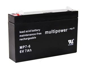 Multipower MP7-6 6V 7Ah Blei-Akku / AGM Batterie