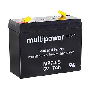 Multipower MP7-6S 6V 7Ah Blei-Akku / AGM Batterie