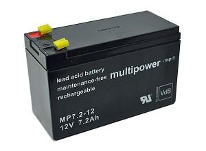 Multipower MP7,2-12 VdS 12V 7,2Ah Blei-Akku / AGM Batterie