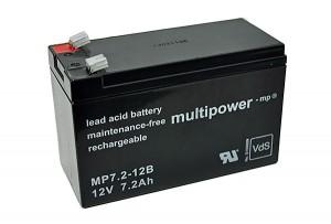 Multipower MP7,2-12B VdS 12V 7,2Ah Blei-Akku / AGM Batterie