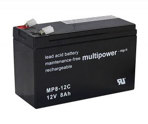 Multipower MP8-12C 12V 8Ah Blei-Akku / AGM Batterie Zyklenfest