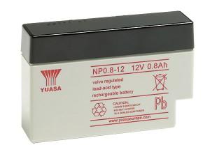 Yuasa NP0.8-12 12V 0,8Ah Blei-Akku / AGM Batterie, Kabel mit JST-Stecker