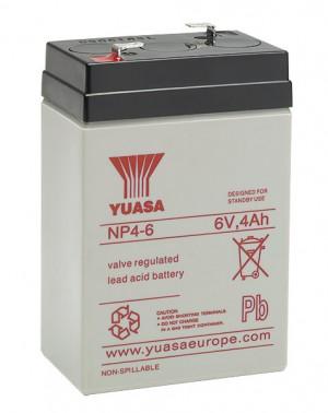 Yuasa NP4-6 6V 4Ah Blei-Akku / AGM Batterie