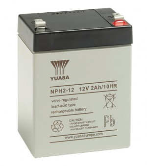 Yuasa NPH2-12 12V 2Ah Blei-Akku / AGM Batterie Hochstrom