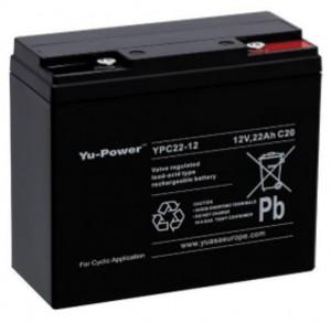 Yuasa YPC22-12 12V 22Ah Blei-Akku / AGM Batterie Zyklentyp
