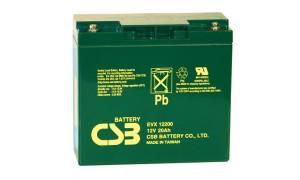 CSB EVX12200 12V 20Ah Blei-Akku / AGM Batterie Zyklenfest