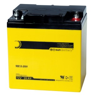 Sun Battery SB12-26H 12V 26Ah Bleiakku
