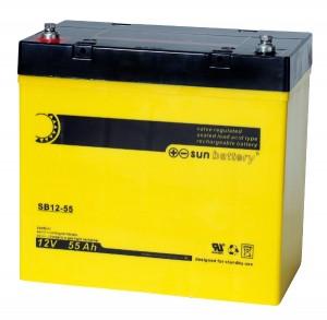 Sun Battery SB12-55 12V 55Ah Bleiakku