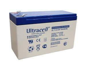 Ultracell UL7-12 12V 7Ah wiederaufladbare VRLA Batterie Akku VdS