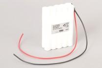 Ni-Cd Akkupack 20N700cl R2S10K 24V / 700mAh (0,7Ah) für RWA Rauchwärmeabzugsanlagen 10 Säulen in 2 Reihen im Schrumpfschlauch mit Kabel