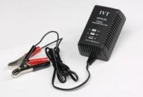 Automatikladegerät IVT 12V / 2,5A für Blei & LiFePo4 mit Krokoklemmen
