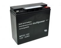 """Batteriesatz für Elektroscooter """"Allen 3"""" - 5 x 12V 22Ah AGM Bleiakkus wartungsfrei zyklenfest"""