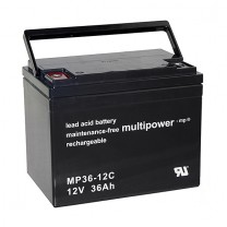 Ersatzbatterien für Eco Flash 2000 Elektroroller - 4x 12V 36Ah AGM Akku zyklenfest wartungsfrei