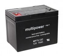 Ersatzbatterien für Afikim Breeze S3 Elektroscooter - 2x 12V 75Ah AGM Akku zyklenfest wartungsfrei