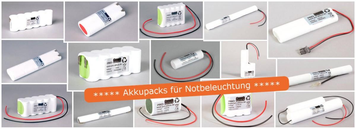 Akkupacks für Notbeleuchtung