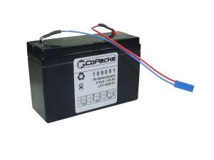Akku passend für Handscheinwerfer Bosch Eisemann Halo 4 - 4 Volt 3,5Ah mit Kabel und Stecker