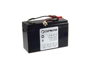 Akku passend für Handscheinwerfer Bosch Eisemann HB90 - 4 Volt 3,5Ah mit Kabel und Stecker