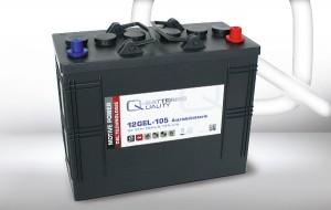 Q-Batteries 12GEL-105 12V 105Ah GEL Akku Zyklentyp Zyklenfest
