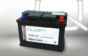 Q-Batteries 12GEL-51 12V 51Ah GEL Akku Zyklentyp Zyklenfest