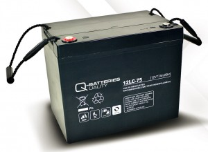 Ersatzbatterie Set für E-Rollstuhl MOBILIS M84 - 2x 12V 77Ah