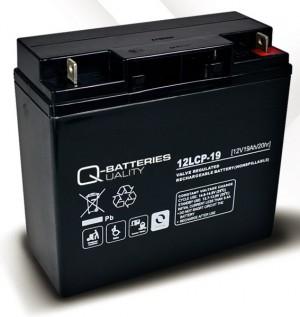 Q-Batteries 12LCP-19 12V 19Ah Blei-Akku / AGM Batterie Zyklenfest