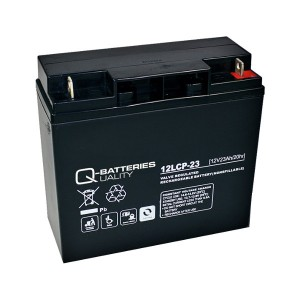 Q-Batteries 12LCP-23 12V 23Ah Blei-Akku / AGM Batterie Zyklentyp