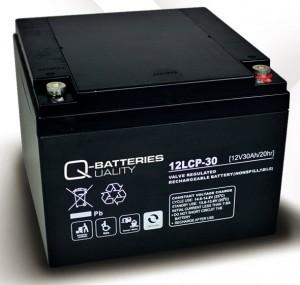 Q-Batteries 12LCP-30 12V 30Ah Blei-Akku / AGM Batterie Zyklentyp