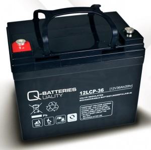 Q-Batteries 12LCP-36 12V 36Ah Blei-Akku / AGM Batterie Zyklentyp