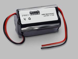 NiMh Notbeleuchtung Akku 4,8V / 1100mAh AA HT Würfel mit Kabel