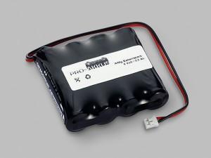 AlMg Batteriepack 6,0V AA F4x1 mit Kabel und Stecker