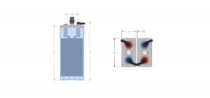 Inbatt OPzS-Zelle 2 OPzS 100 - 2V 126Ah (C10) Batterie