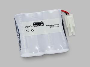 Alkaline Batteriepack 6V AA F4x1 mit Kabel und Stecker
