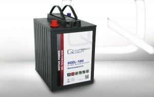 Q-Batteries 6GEL-180 6V 180Ah GEL Akku Zyklentyp Zyklenfest